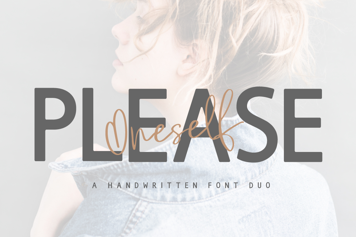 Please Oneself Font Duo example image 1