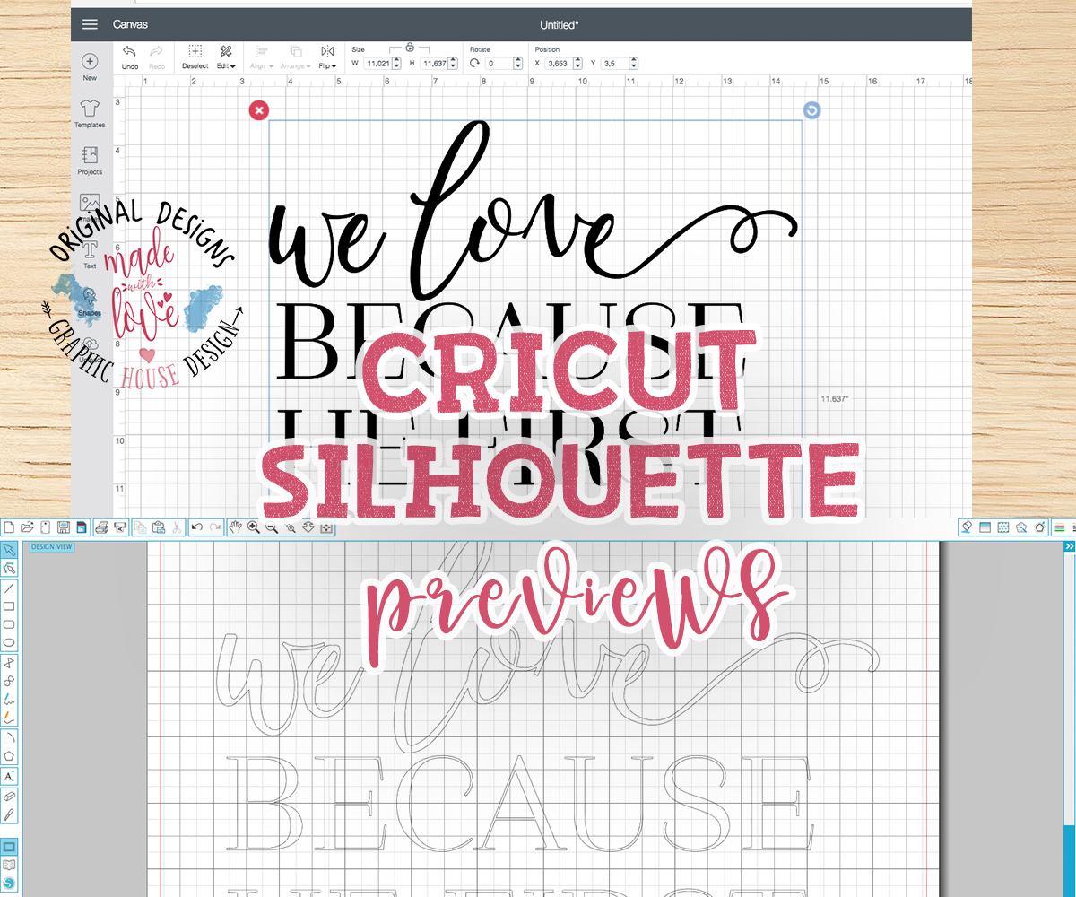 We love because he loves us first Cutting File (SVG, DXF, PNG) example image 2