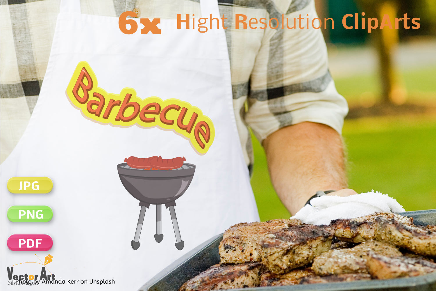 Barbecue - Craft Bundle for Sublimation and Scrapbooking example image 3