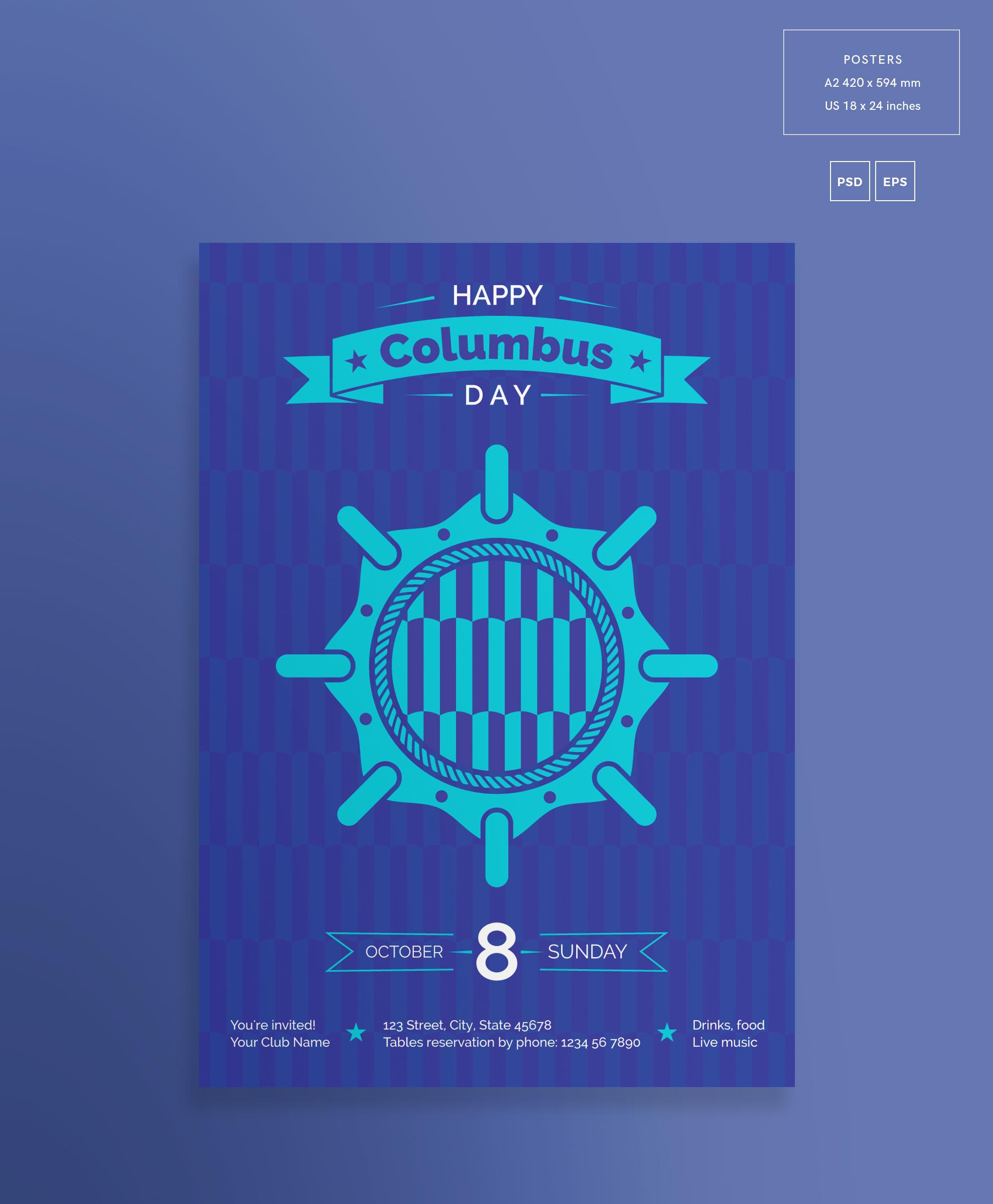 Columbus Day Party Design Templates Bundle example image 3