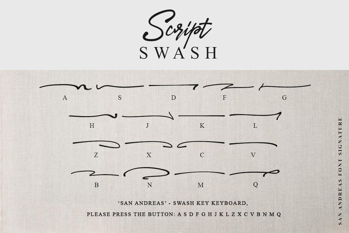 San Andreas Signature Font example image 18