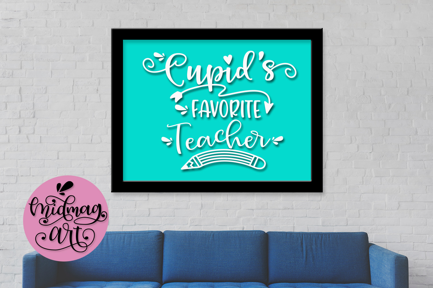 Cupids's favorite Teacher svg, png, jpeg, eps and dxf example image 3