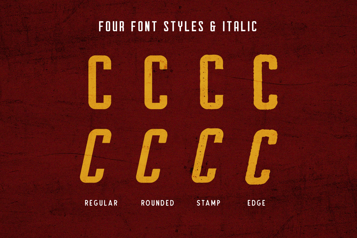 Courager Typeface (8 Fonts!) example image 6