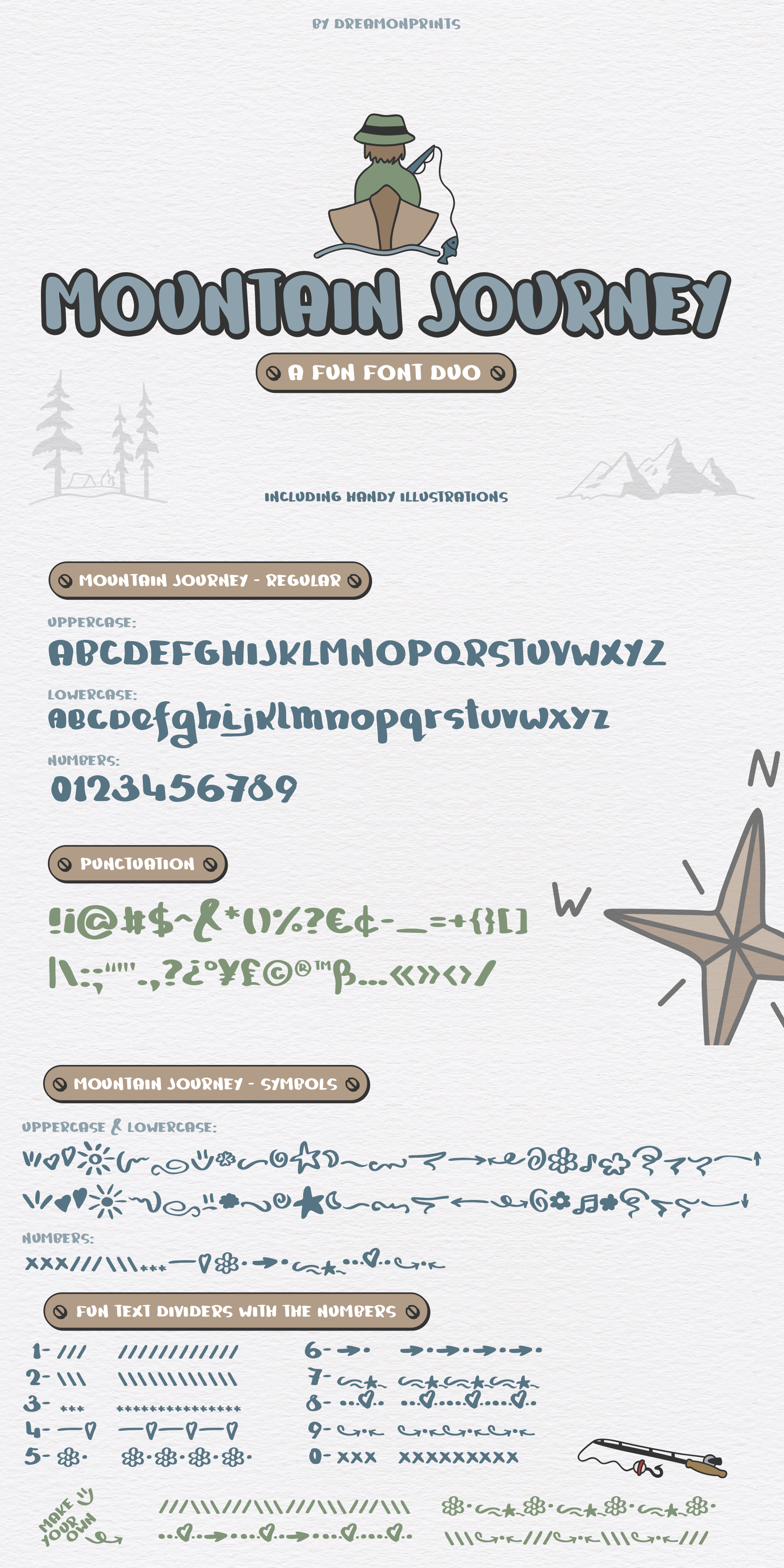 Mountain Journey - a Fun Font Duo example image 8