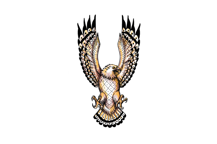 Osprey Swooping Front Tattoo example image 1
