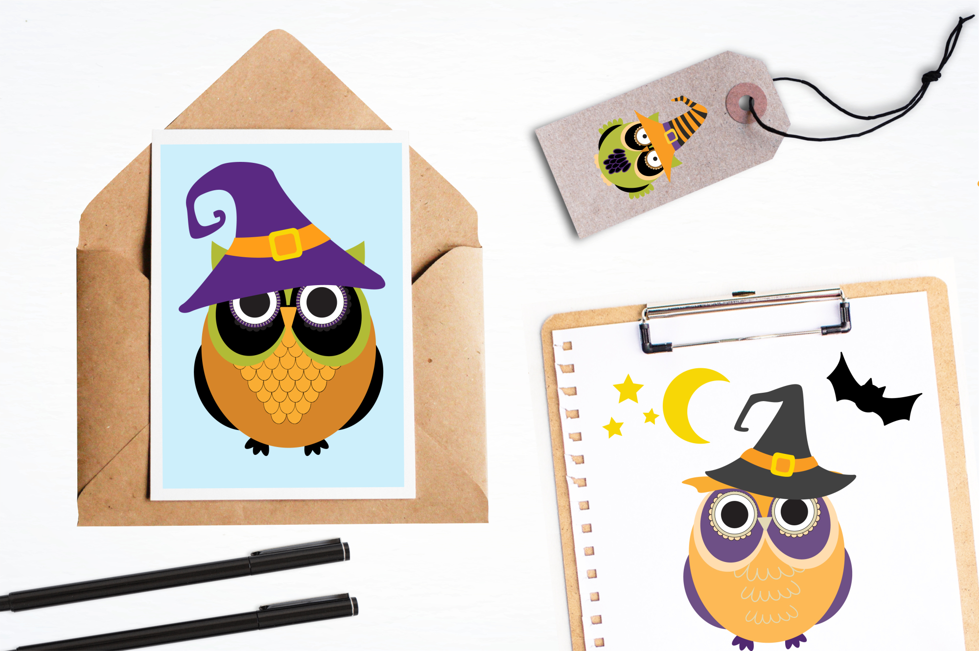 Halloween Owls graphics and illustrations example image 4