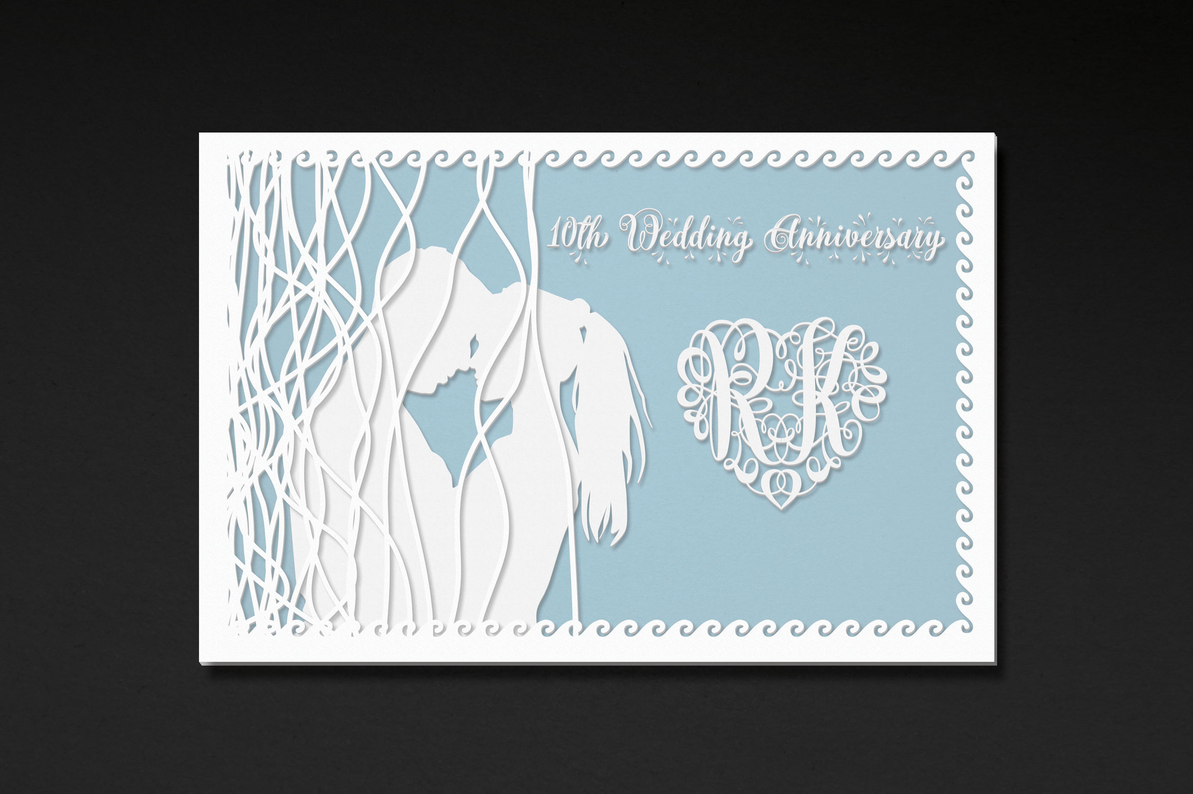 676 Heart Monograms | Ready for Papercut example image 5