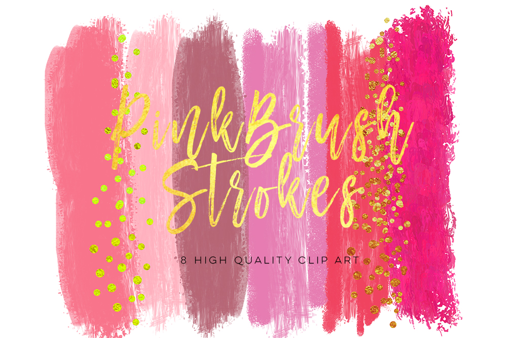 pink brush strokes, watercolor pink and pearl glitter, shimmering sparkle brush, Blush Pink Glam Paint Strokes Clipart, pink png overlays example image 1
