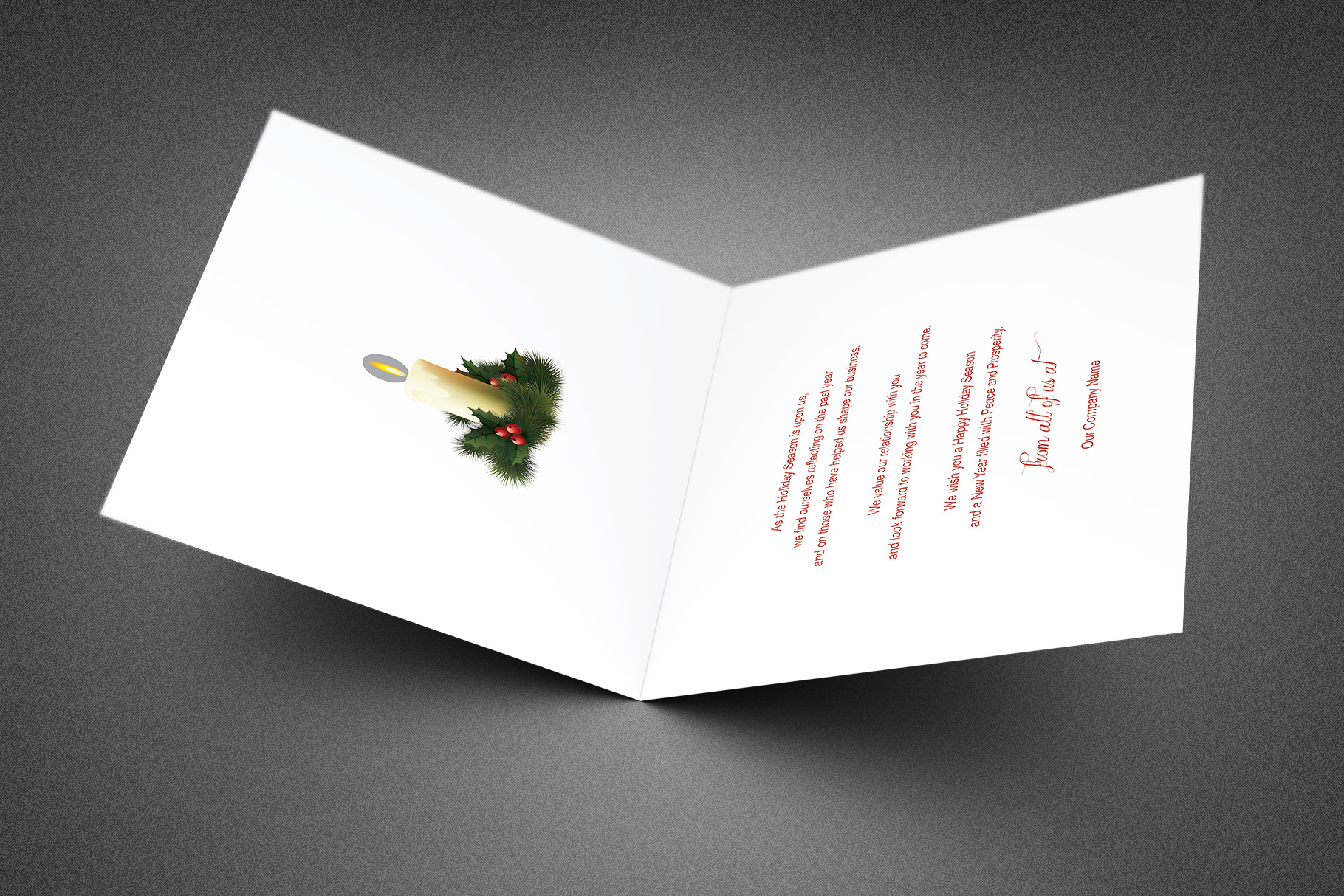 Ornate Christmas Thank You Card Template example image 2