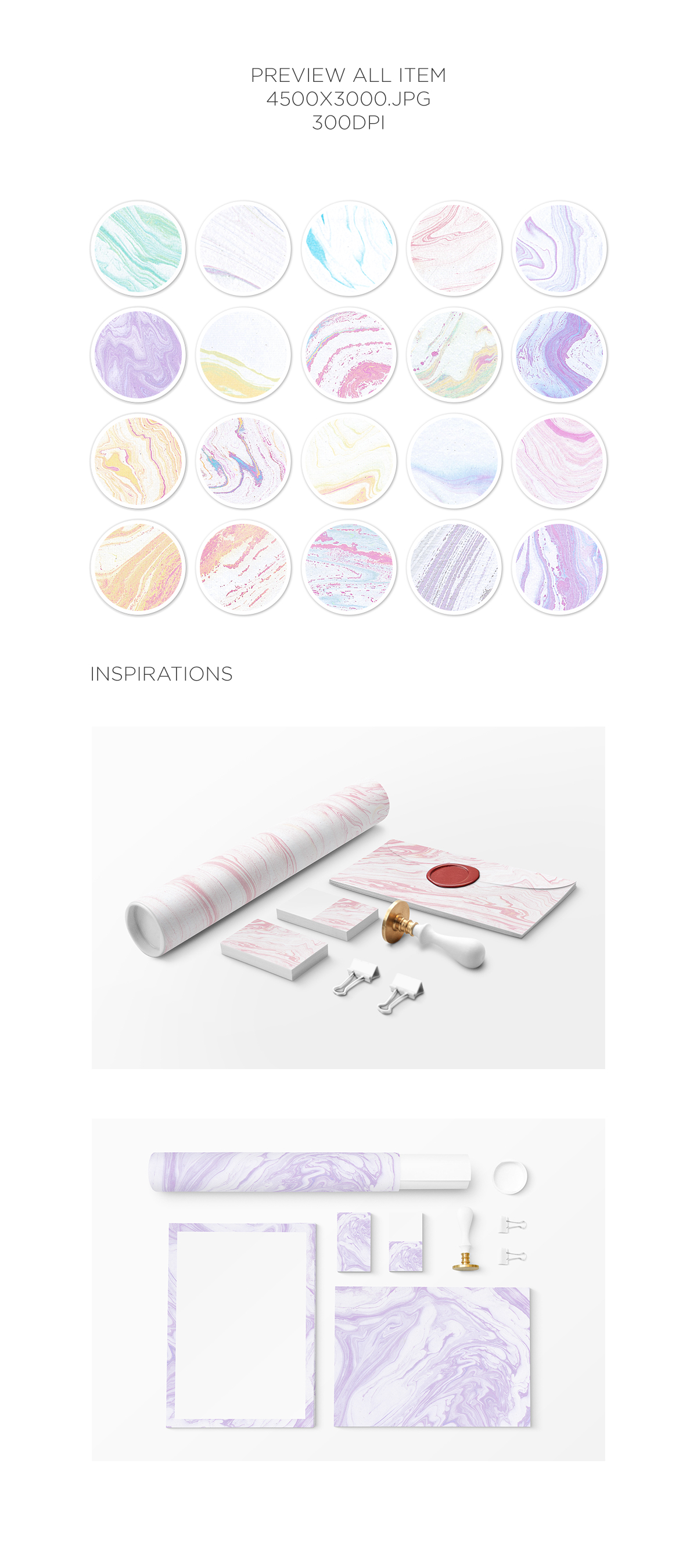 Marble Paper Textures Vol.5 example image 2