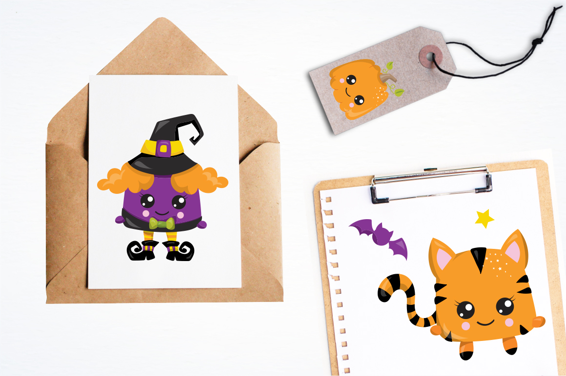 Halloween graphic and illustrations example image 4