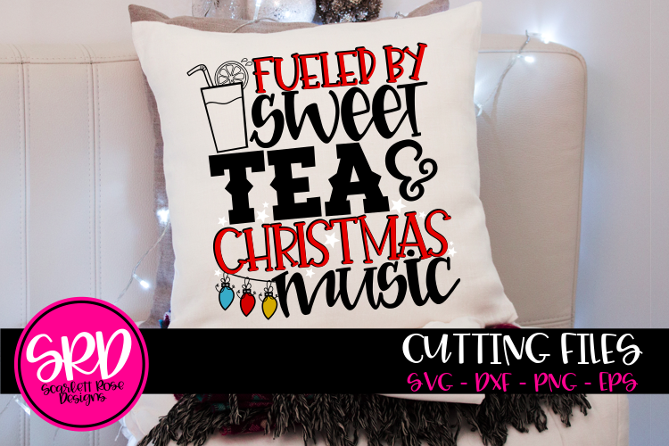 Fueled by Sweet Tea & Christmas Music SVG example image 1