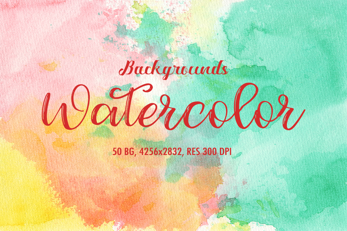50 Watercolor Backgrounds 02 example image 1