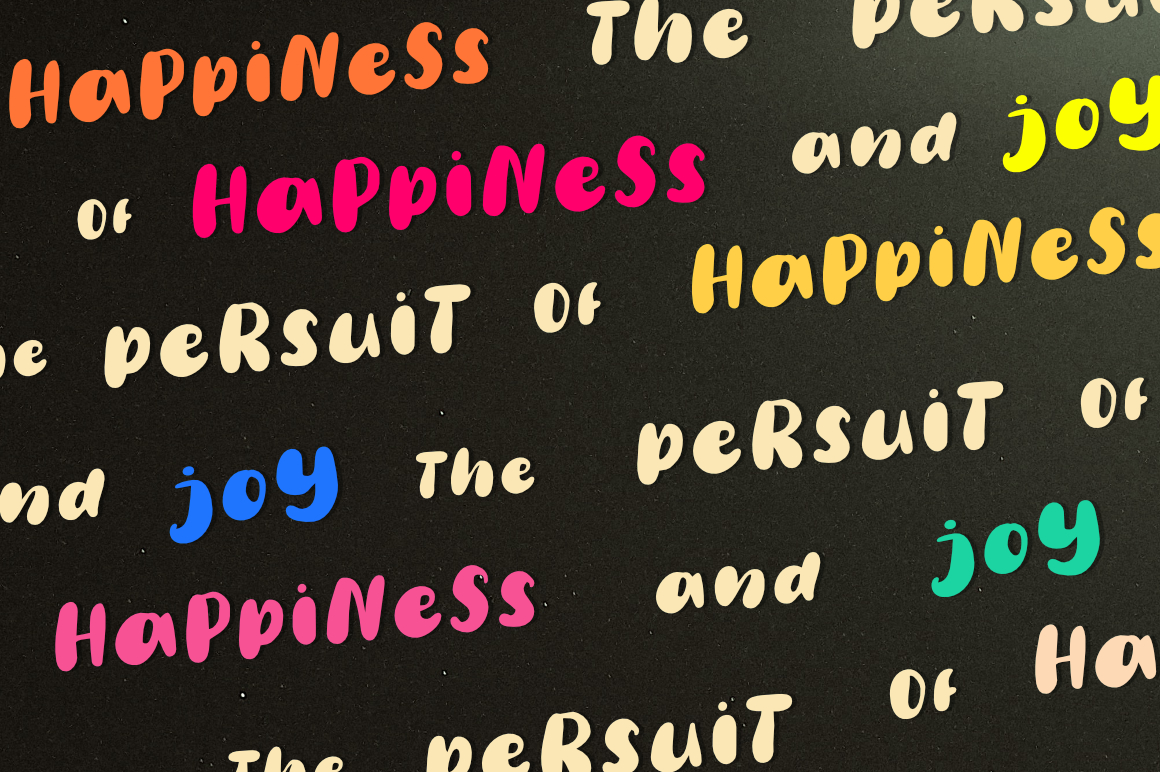 Happy Weight - A Playful Typeface example image 9