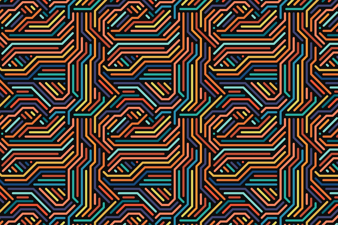Colorful seamless striped patterns. example image 9
