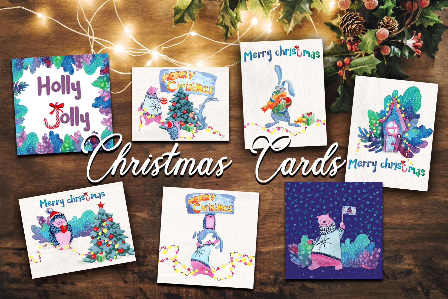 Christmas greeting cards example image 4