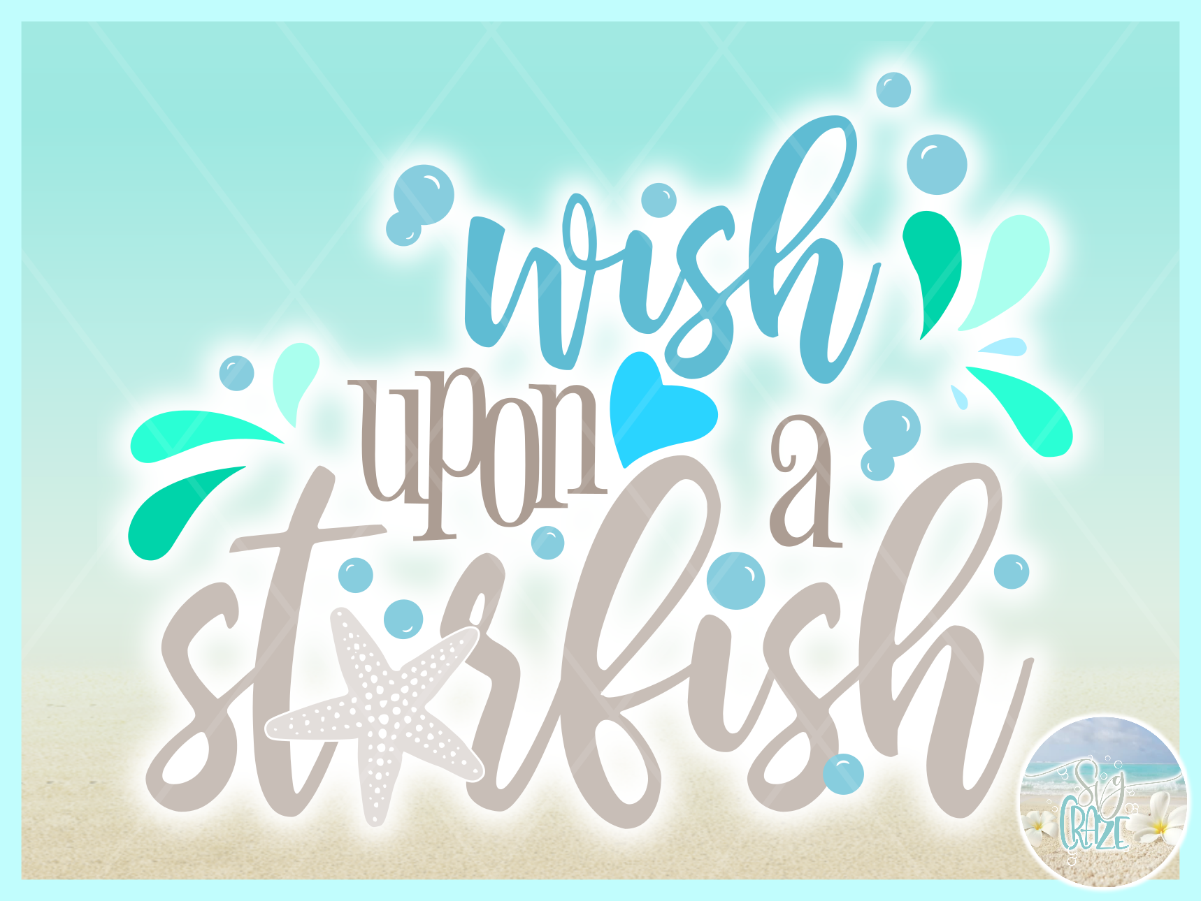 Wish Upon A Star Fish Quote Svg Dxf Eps Png Pdf Files example image 2