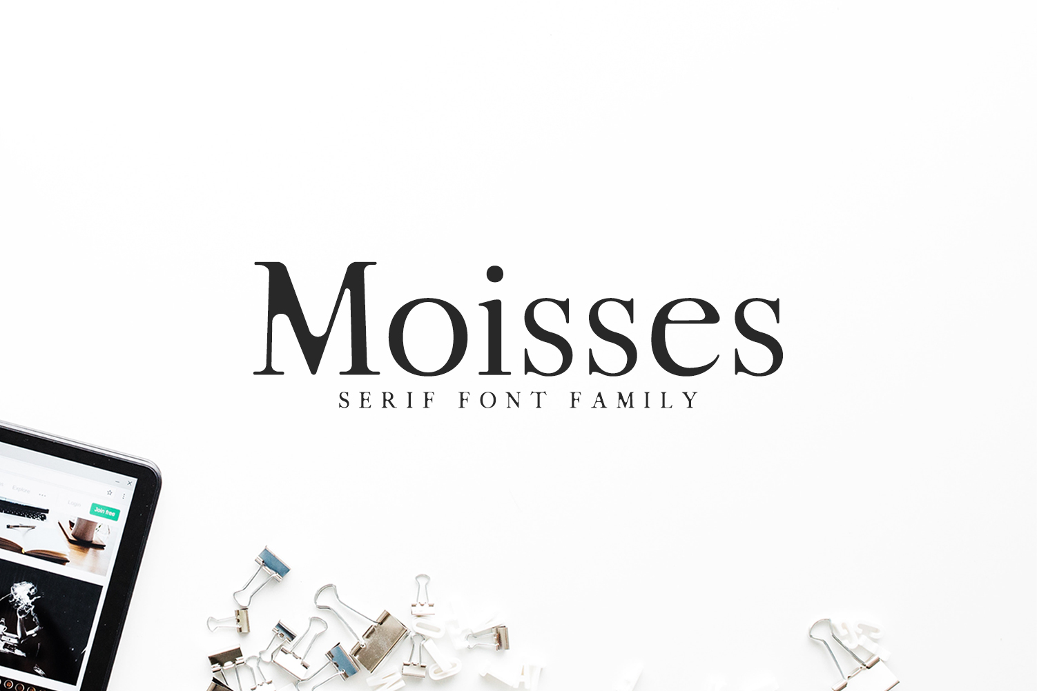 Moisses Serif Font Family Pack example image 1