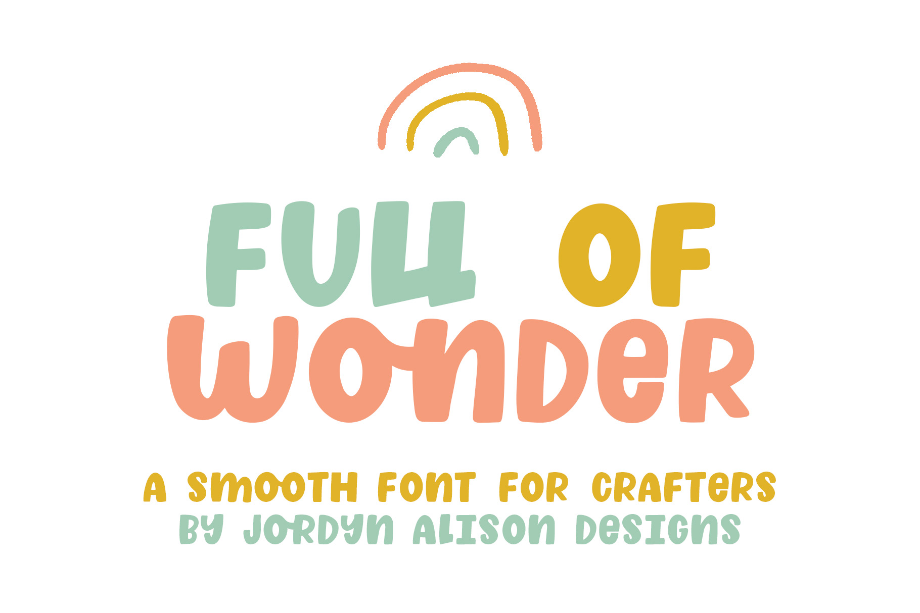 Full of Wonder, Thick Children's Font example image 1