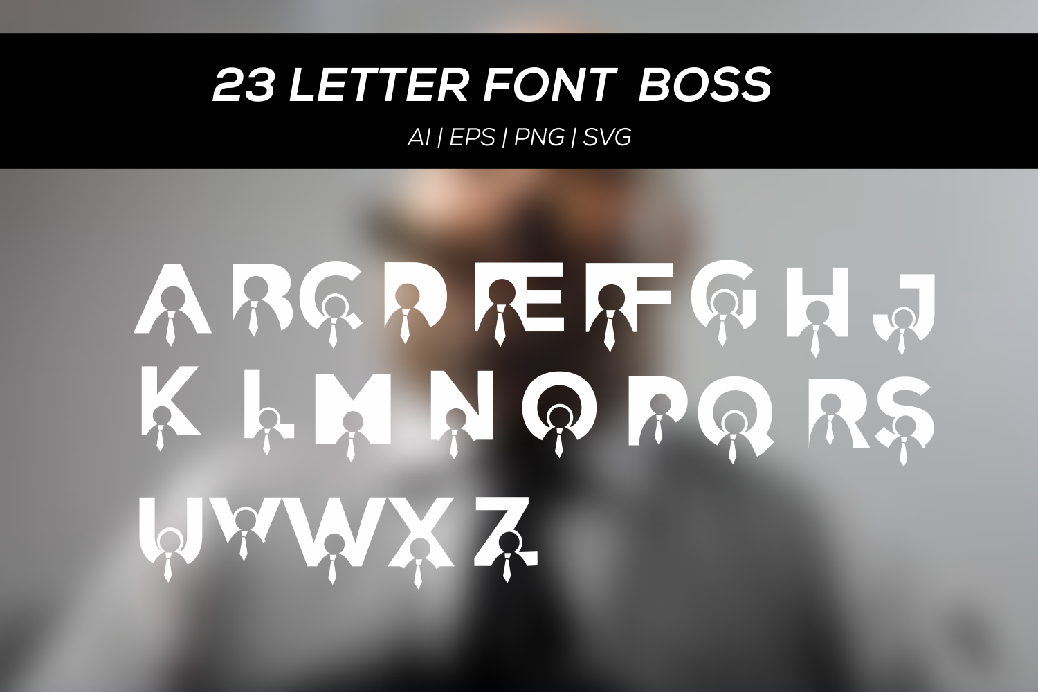 23 letter font with boss example image 2