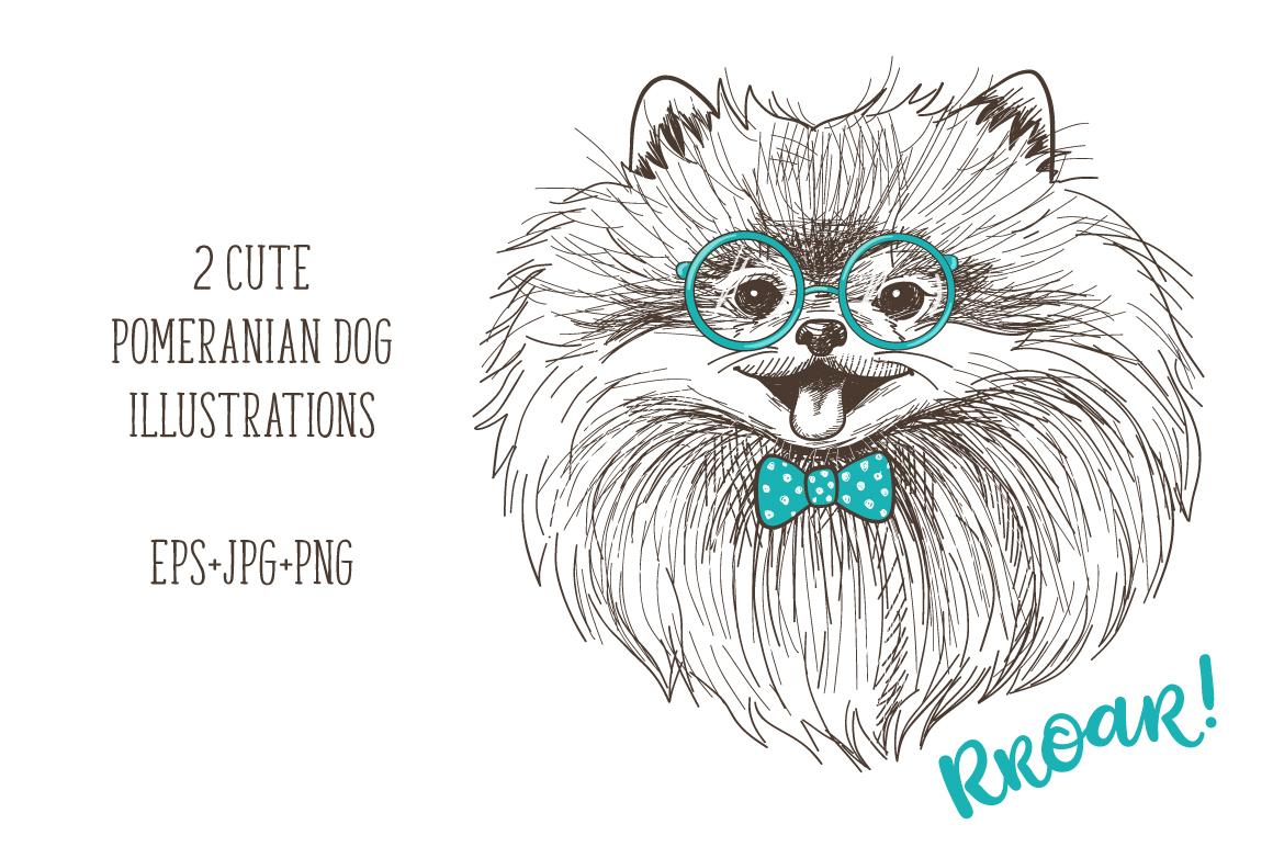 Pomeranian dogs print + bonus! example image 2