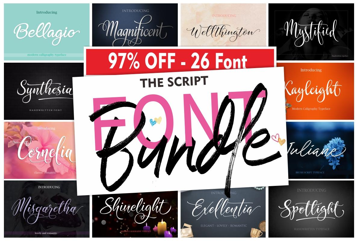 The Script Font Bundle example image 1