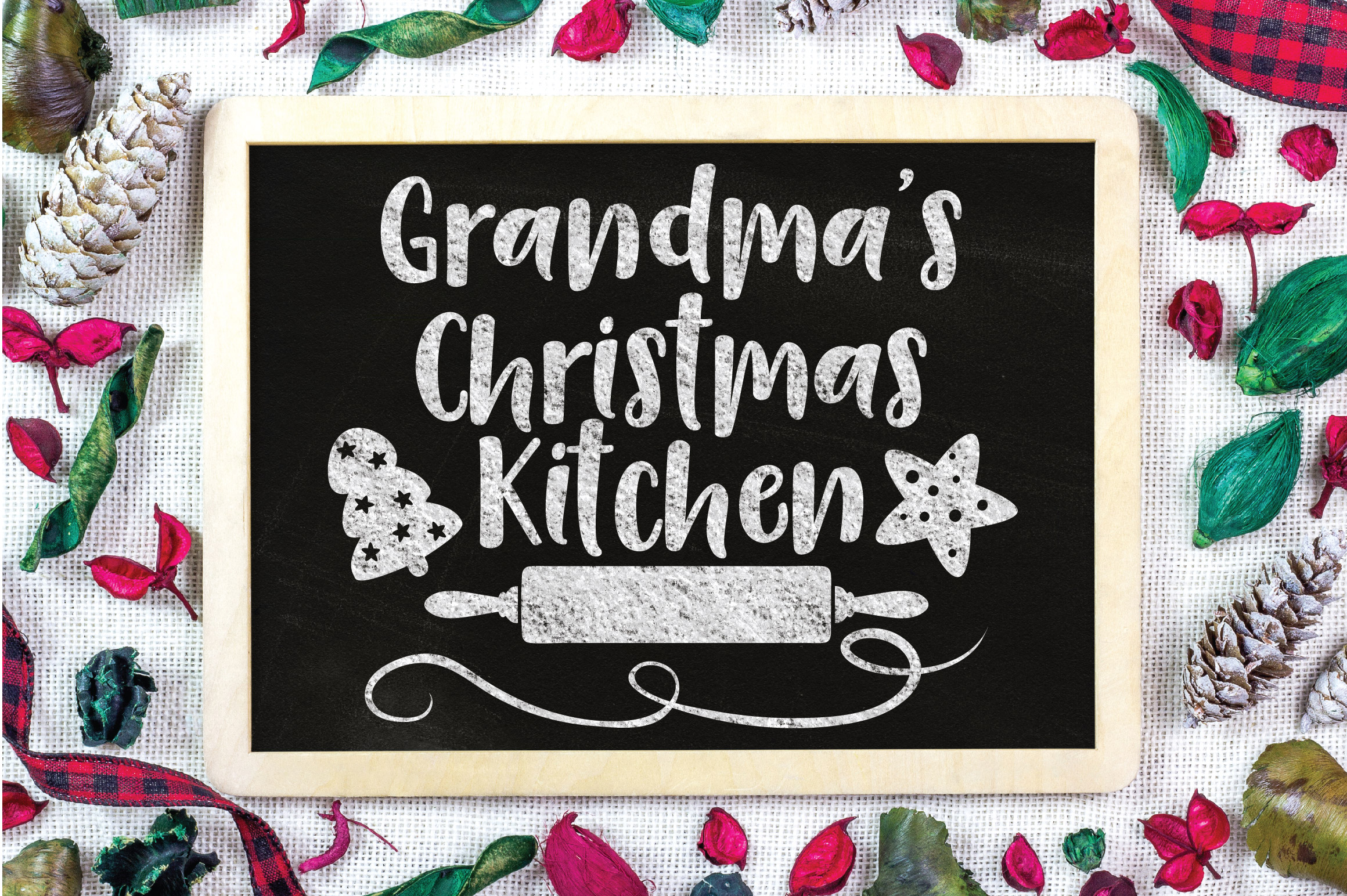 Christmas SVG Cut File - Grandma's Kitchen SVG DXF PNG EPS example image 2
