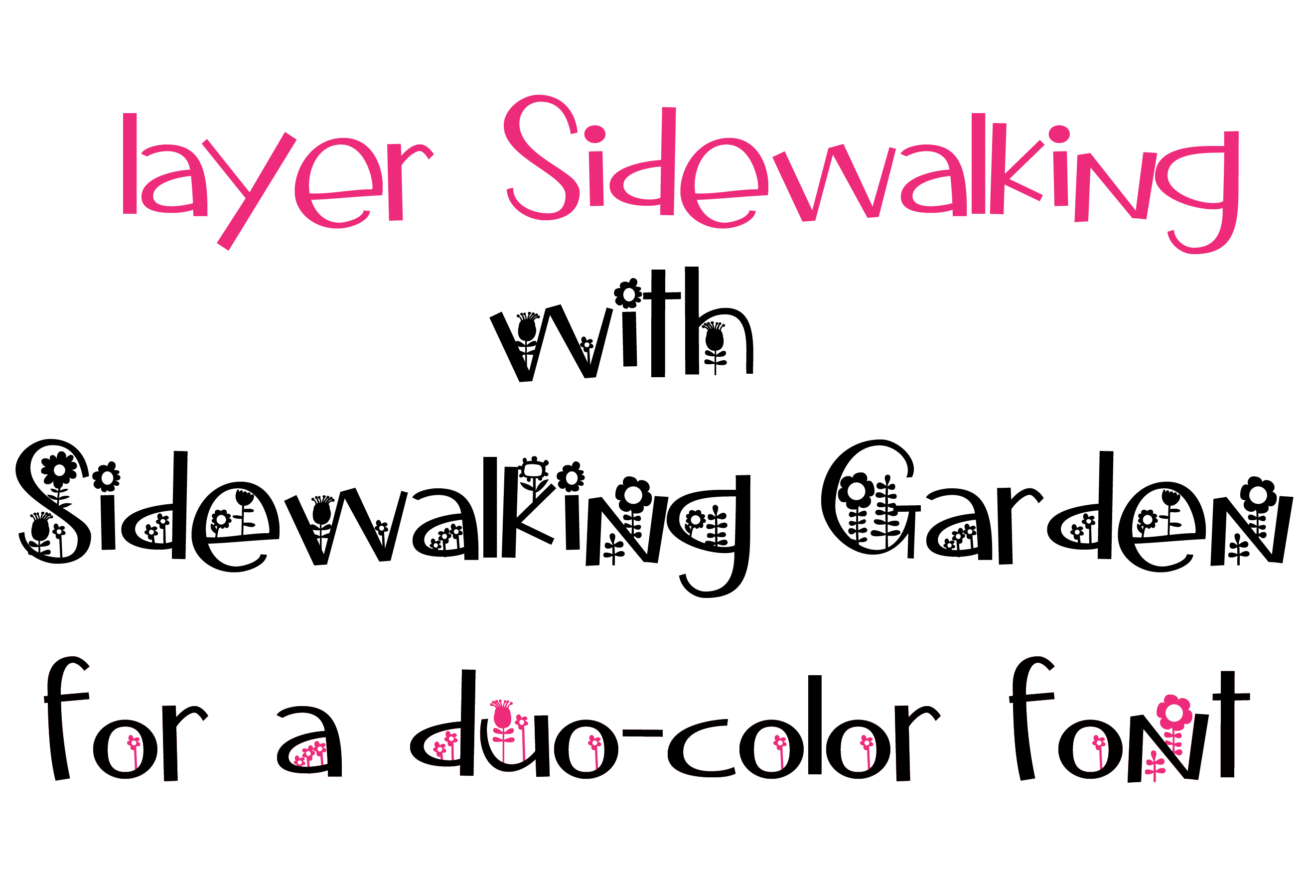Sidewalking Font Duo example image 13