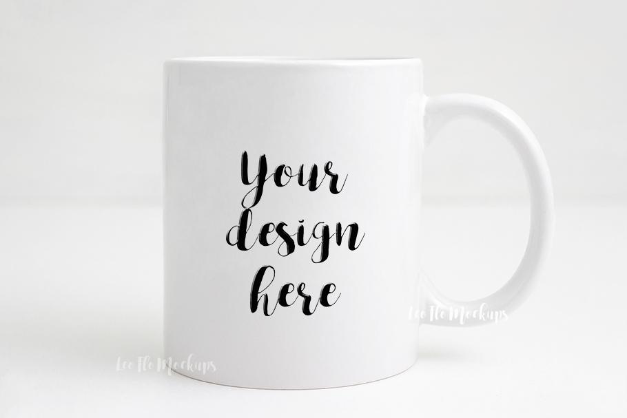 mug mockup white coffee 11oz mug mock up template example image 1