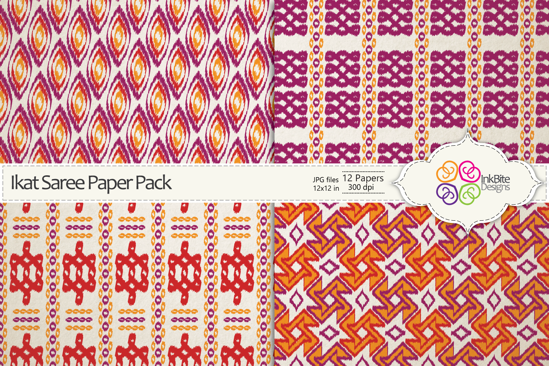 Ikat Saree Paper Pack
