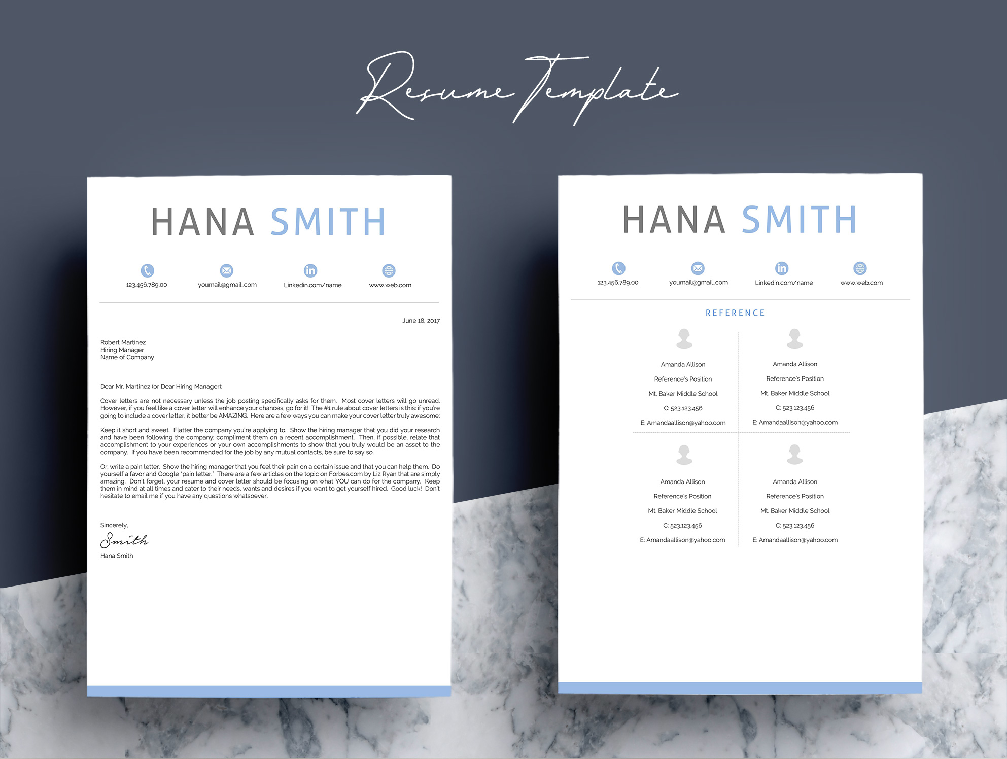 Professional Design 4 Pages Resume Template  example image 5