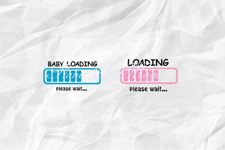 Baby Loading Svg, Maternity Svg, Loading Svg, Pregnant Svg example image 3