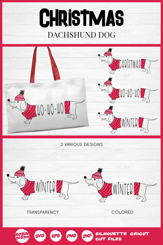 Christmas SVG - Funny Christmas Dog SVG- Dachshund Dog SVG example image 4