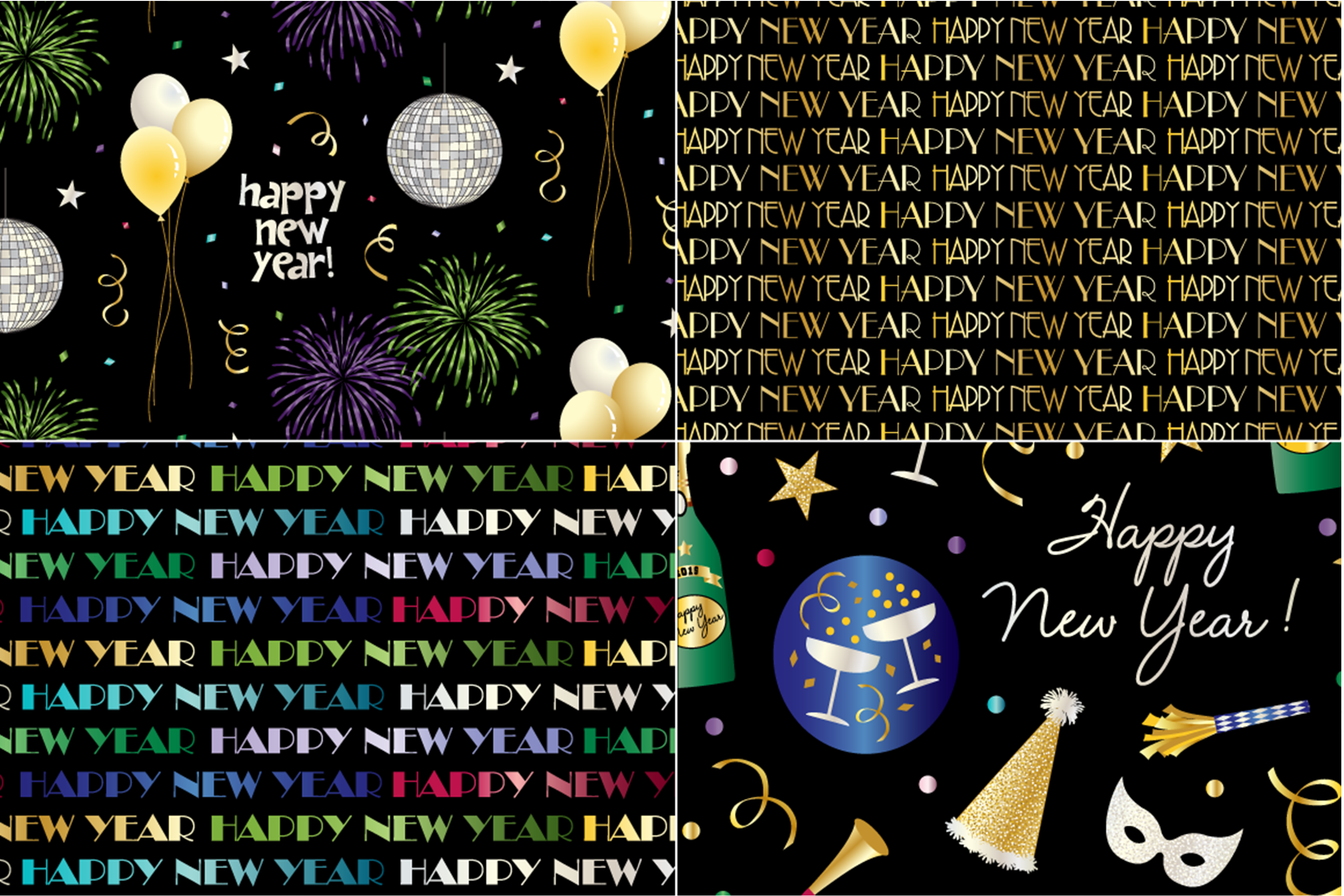 New Year's Eve Patterns example image 3