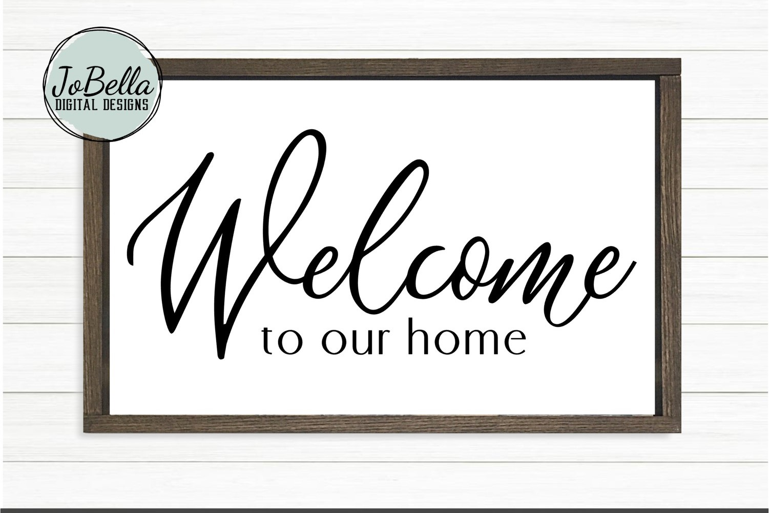 Welcome To Our Home SVG and Printable Farmhouse Design example image 1