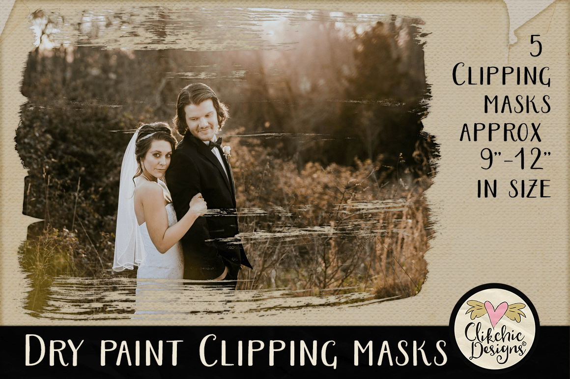 Dry Paint Photoshop Clipping Masks & Tutorial example image 5