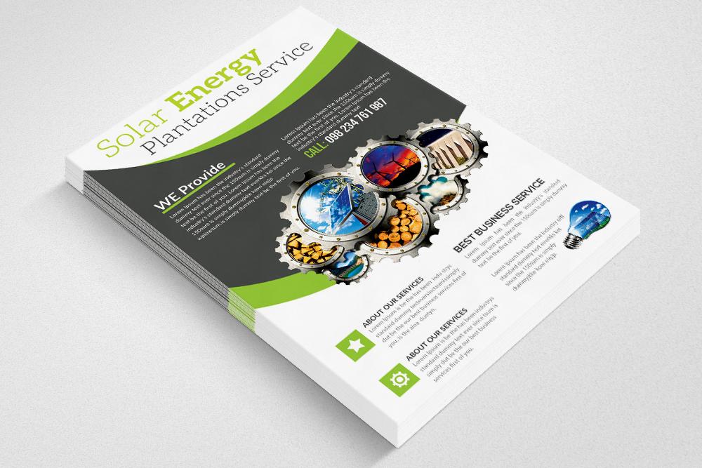 Renewable Energy Source - Go Green Flyer example image 2