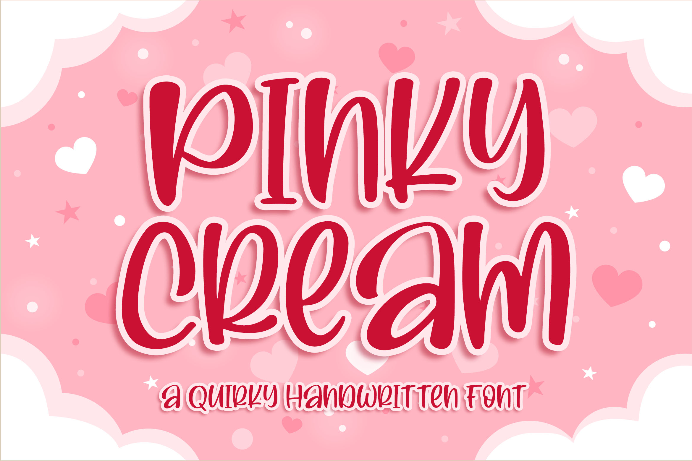 Pinky Cream a Quirky Font example image 1