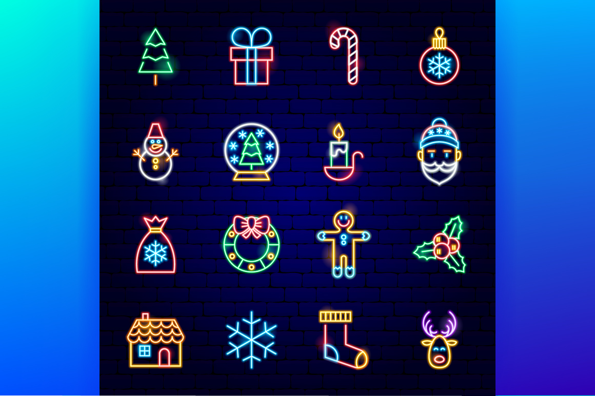 Merry Christmas Neon example image 2