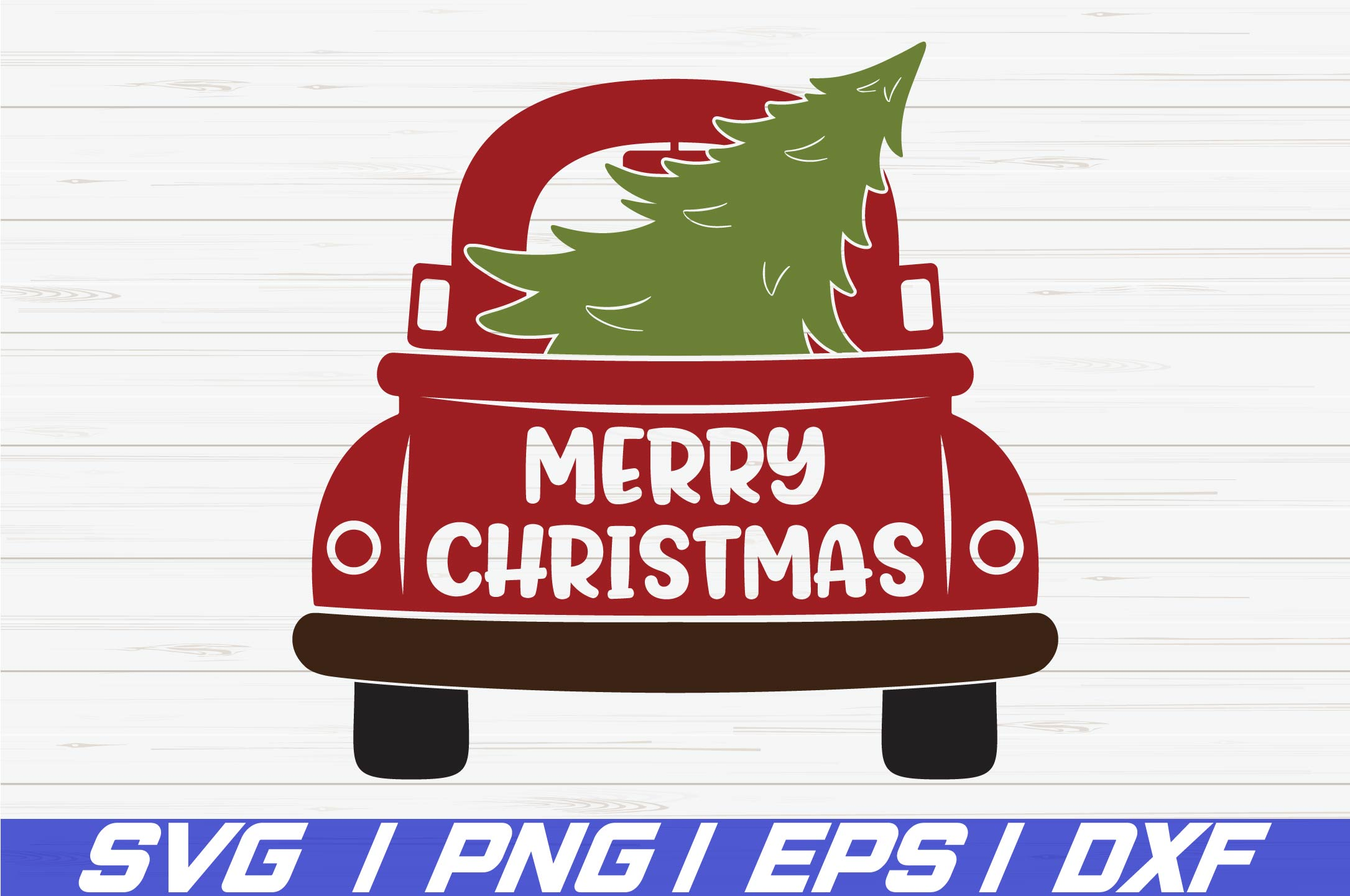 Download Christmas truck SVG / Cricut / Cut file / Clip art