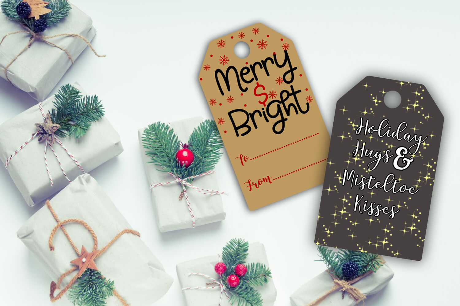 Christmas Gift Tags- Printable Christmas Gift Tags- Gift Tag example image 5
