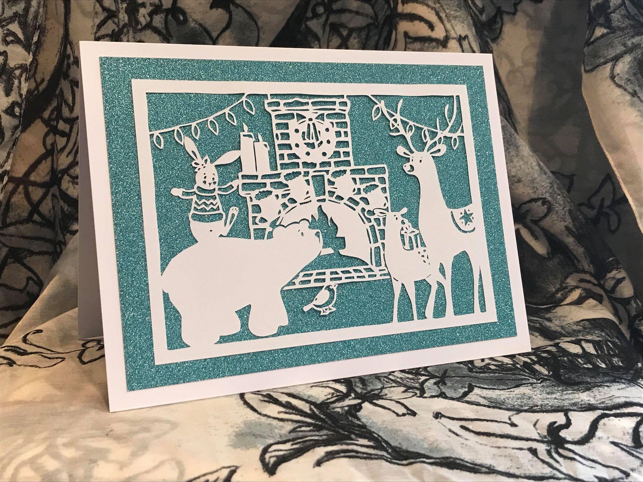 Bird and Bear's Xmas Collection x 8 papercutting templates example image 10