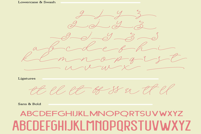 Filia Trio - Script, Sans, and Bold example image 12