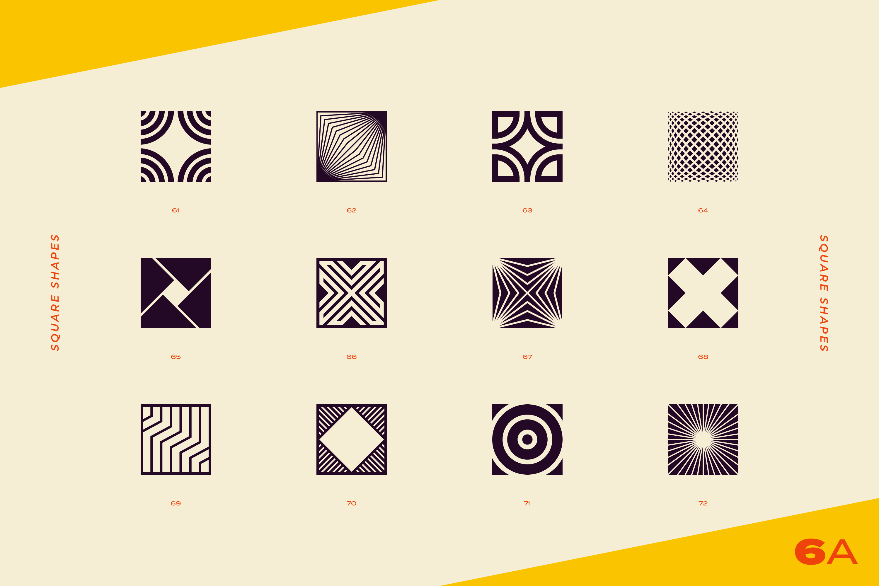 96 Abstract logo marks & geometric shapes collection example image 17