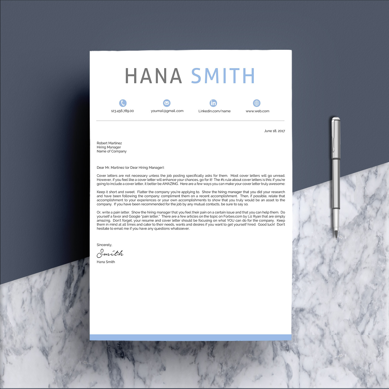 Professional Design 4 Pages Resume Template  example image 7