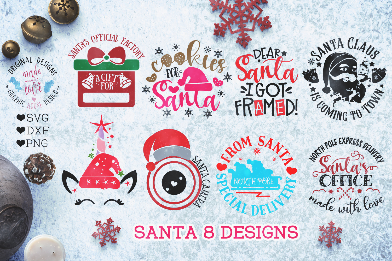 Santa Christmas Cut Files example image 1
