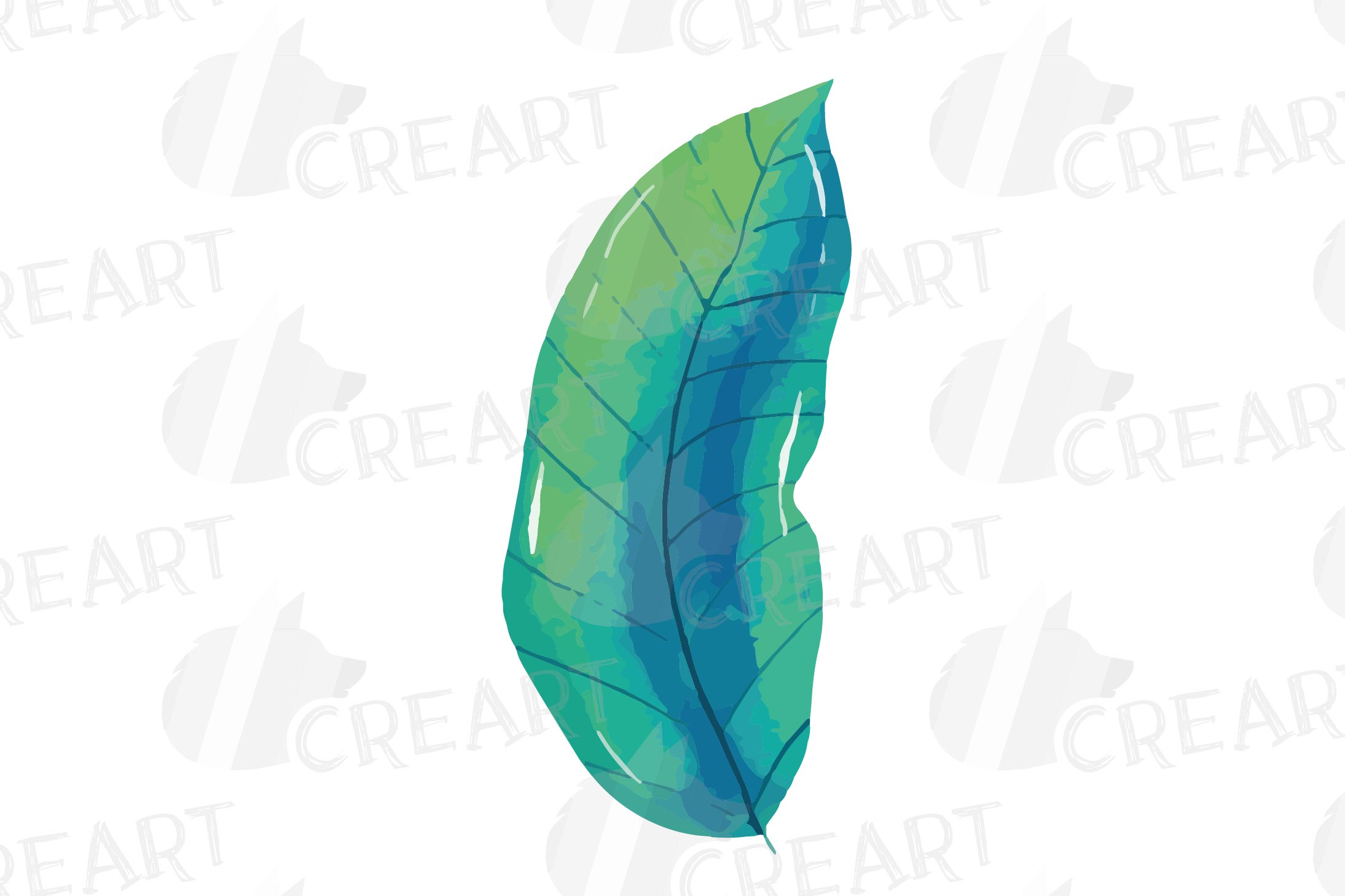 Tropical navy blue and green leaves and exotic flowers example image 18
