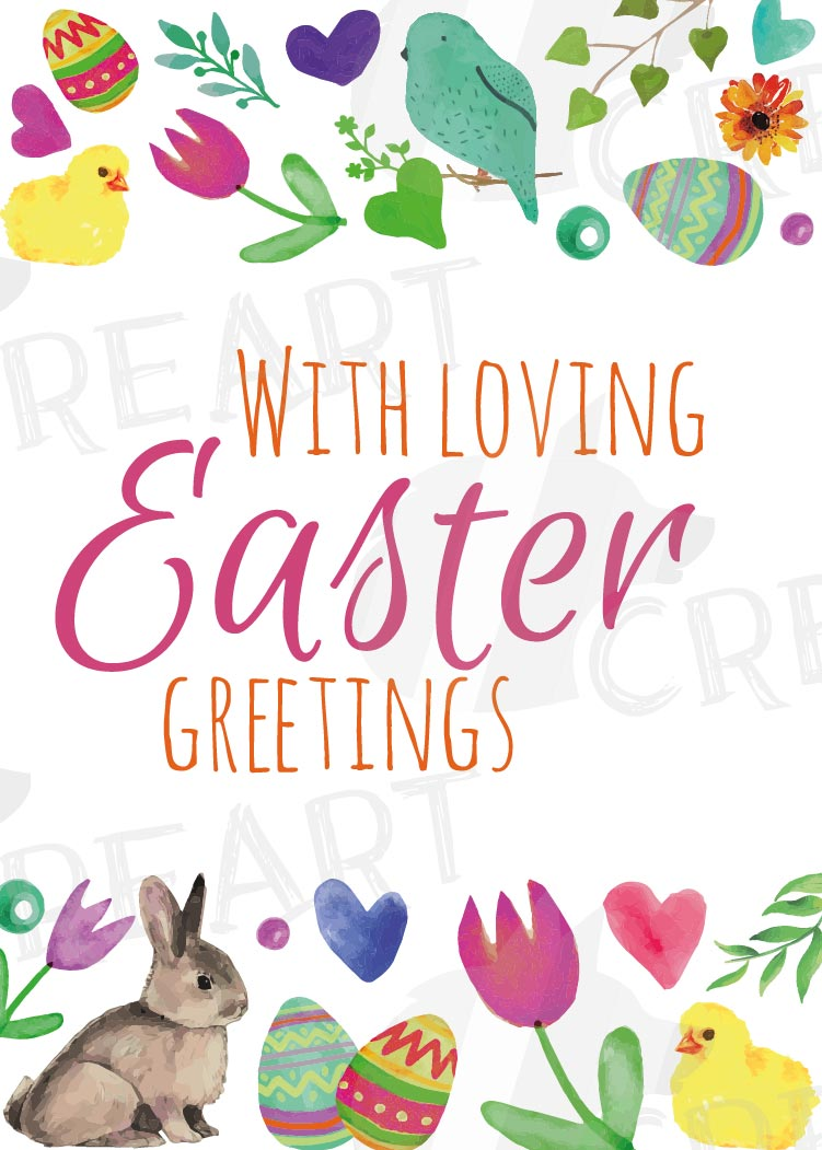 Easter greeting cards, 6 Happy Easter cards, colorful cards example image 6