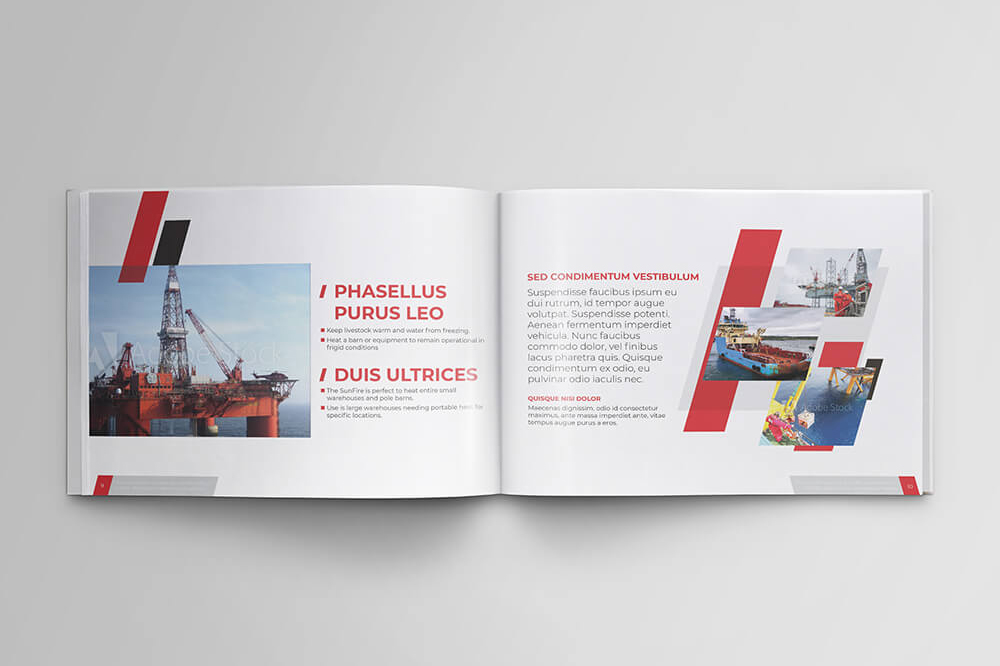 Offshore Oil and Gas Booklet Design Template example image 7