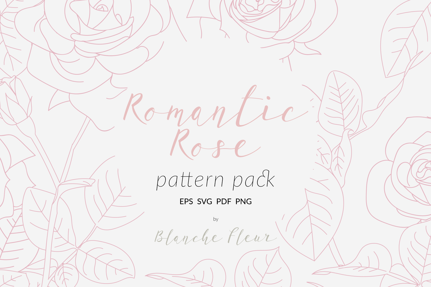 Romantic Rose Pattern Pack example image 1